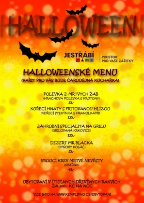 Halloweenské hodování v kempu Jestřábí I.